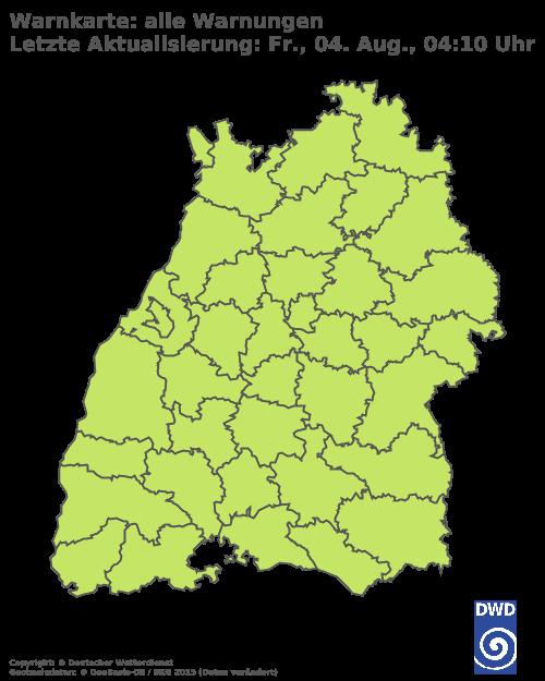 Aktuelle Wetterwarnungen für Waldshut